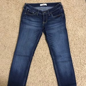 Medium wash low rise Hollister jeans